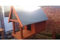 New wooden and insulated dog kennel