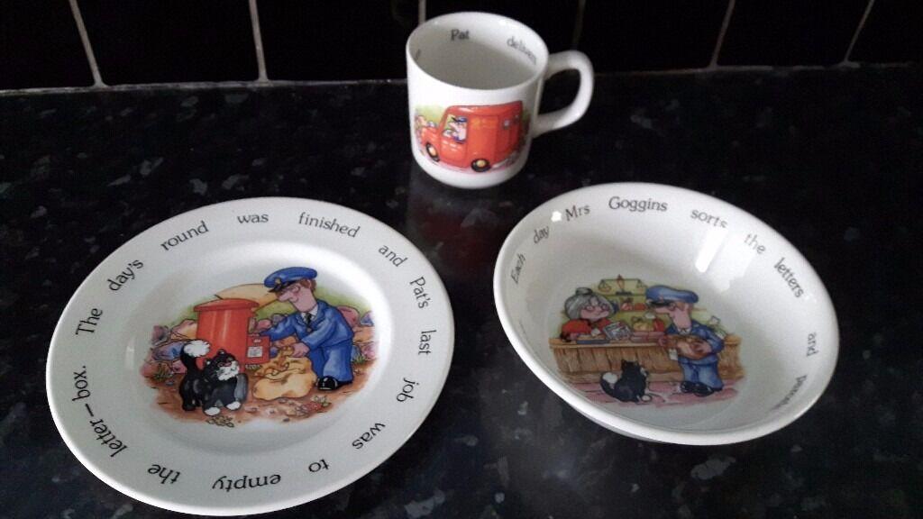Vintage / Collectible Postman Pat Mug, Plate & Bowl Set **REDUCED - GRAB A BARGAIN**