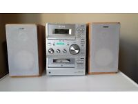 Sony mini stereo (radio, tape and CD player) with remote control