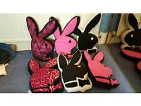 large playboy cushions