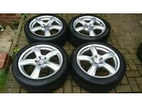 "GENUINE MERCEDES BENZ 18"" ALLOY WHEELS E CLASS S C CLS VITO V CLASS VANEO AMG VW SEAT AUDI GOLF LEON"
