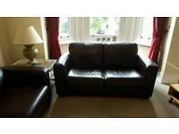 Leather Sofa x 2(Chocolate Brown)