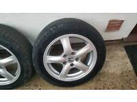 Honda 16inch Alloys Wheels and new tyres.