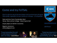 Indoor 5 a side football / futsal: players and teams required (adults) TUESDAYS 8PM Livingston