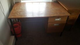Used wooden desks