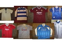 WANTED FOOTBALL SHIRTS FROM THE 1980'S ONWARDS