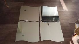 Ikea (Krabb) 4-piece, wall mounted, curved edged mirror with fixings and instructions