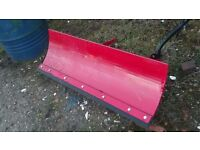 Quadbike snow plough blade £275 plus vat £330