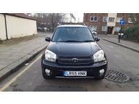 2005 Toyota RAV4 2.0 black estate Manal Petrol MOT aug2018 full service history 1owner *Sunroof*