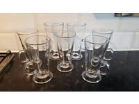 7 Coffee Glasses Tea Latte Cups