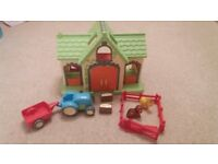 Happyland Farm (ELC) with sounds, tractor, trailer, animal pen, pony & dog