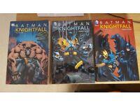 Batman: Knightfall, Knightquest, Knightsend. Volumes 1, 2 & 3. Like New.