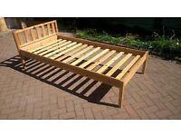 Single Pine Bed Frame for sale.