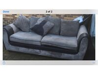 Sofa black and grey. Two seater see photo