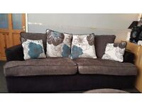3 seater sofa with matching spinning chair