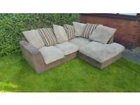 Corner fabric sofa ( free delivery )