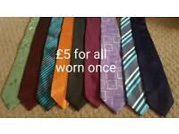 Men's ties worn once