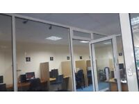 Aluminium Partitions, Glass Frame and Glass Doors