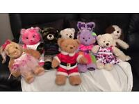 Genuine Build a Bear teddies with outfits
