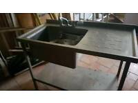 Commercial catering sink unit as new