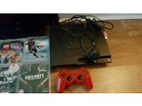 """Ps3 80 gig, 19"""" HD TV and 6 games"""