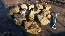 Weathered rockery stone