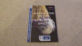 1999 FA Cup programme Manchester Utd V Newcastle Utd