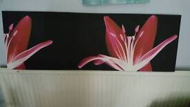 Pink lily wall canvas