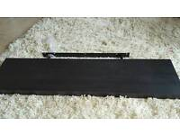 Ikea floating shelf black matt 110cm