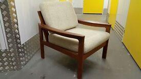 Vintage DANISH Armchair TEAK Wood Design Great Condition Unique Loft Modern