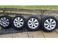 "4x 16"" Alloy wheels (vauxhall, vectra, signum, astra, zafira, saab)"