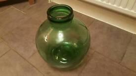 Green garden bottle