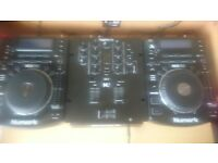 Nurmark ndx 500 pair with nurmark m2 mixer good working condition collection only