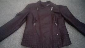 Grape Faux Leather Jacket