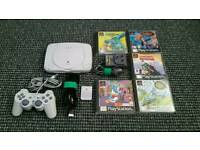 Ps1 slim with 5 games