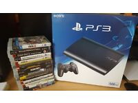 PS3 Black 500GB Console and 15 Games