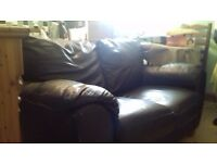 FREE Leather brown sofa (leather appearance)