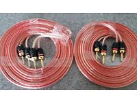 professional studio grade Speaker Cable At 3meter x 2 + 8 Sewell dead bolt
