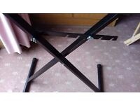 METAL KEYBOARD STAND. FULLY HEIGHT ADJUSTABLE with 5 positions. 1 inch thick tubing.