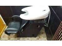 Backwash + hydraulic barber seat