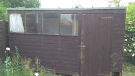 Large shed (350x180x210cm), good condition. Buyer dismantles and collects.