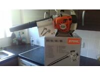 stihl sh 56c garden blower with box and manual