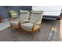 Pair Of Mid Century Arm Chairs
