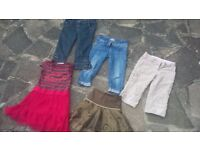 Bundle Girls Clothes M&S Next H&M Dress Skirt Jeans Shorts Trousers 7 8 Years