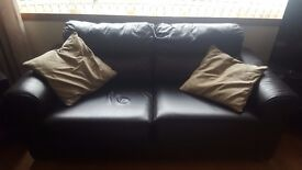 Leather suite 3 and 2 seater couches plus armchair. Goodd condition l, non smoking house