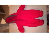 Newborn all in one outdoor suit (red) - Junior J - in excellent condition