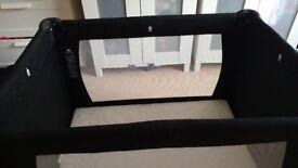 Travel cot with memory foam mattress