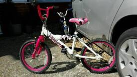 """Girls bike 18"""" Wheels avigo breeze pink"""