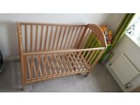 Cot with mattress going free to a good home.