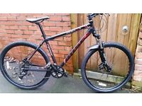 "BASE ELITE ""29"" MOUNTAIN BIKE, 20"" FRAME, 27 DEORE GEARS, HYDRO BRAKES, USED 6 TIMES, KEPT INDOORS"